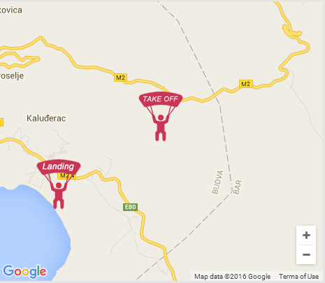buljarice mapa Buljarica | Paragliding Montenegro buljarice mapa