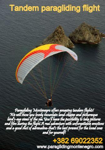 Tandem Flight Paragliding Montenegro3