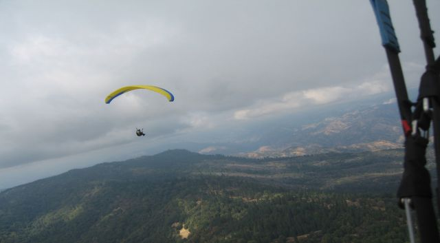 Paragliding look from above