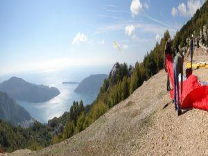 Paragliding-Preparing for take off Dizdarica