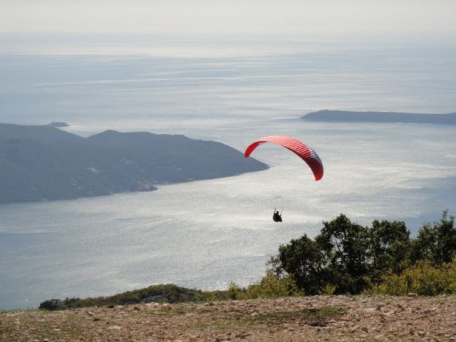 Paragliding - view from take off Dizdarica