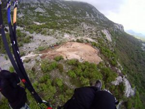 paragliding from above take off Dizdarica