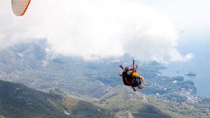 feel freedom in tandem paragliding flight Montenegro Budva