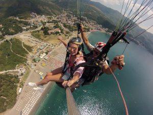 Tandem paragliding Budva summer activity