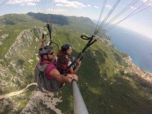 budva paragliding tandem flight