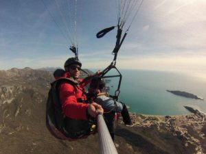 budva paragliding winter flying