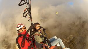 fogy days for paragliding above budva