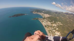 what to see in budva? paragliding best choice