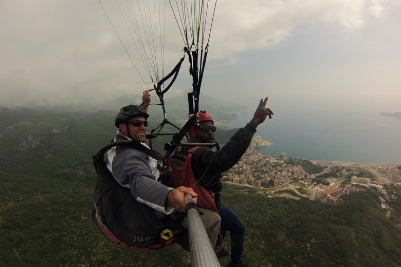 Make your vacation in Montenegro exciting.Take an exhilarating Tandem Paragliding in Budva, flight with our friendly and experienced team. You can chose adrenaline flying trip or a relaxing sightseeing amazing landscapes - it's your choice!