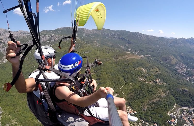 tourist attractions , paragliding kotor