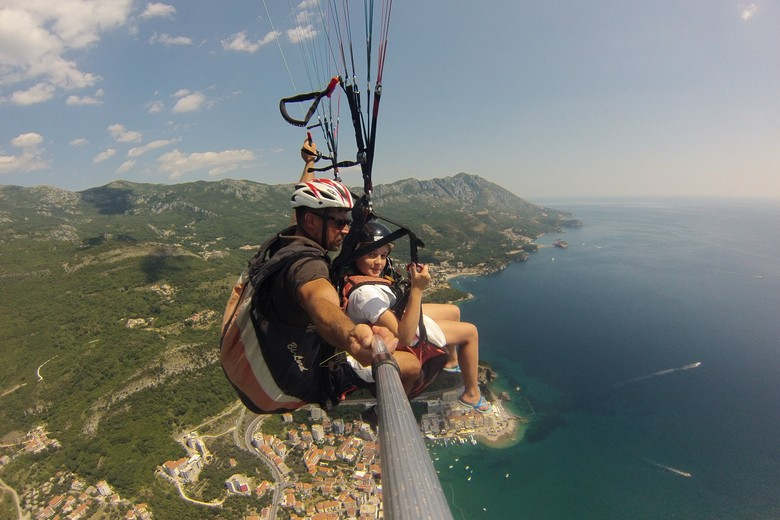 welcome to paragliding Budva  for kids