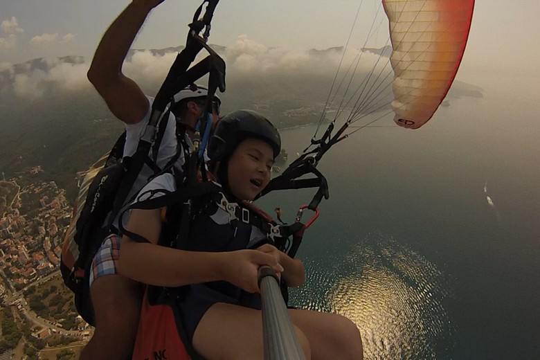 what to do in Budva? take an extraordinary flight for all family