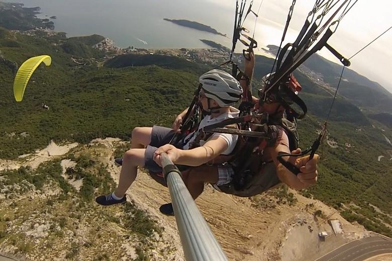 paragliding montenegro,budva paragliding fly