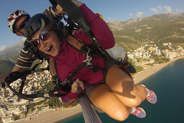 paragliding Montenegro, adrenaline flight