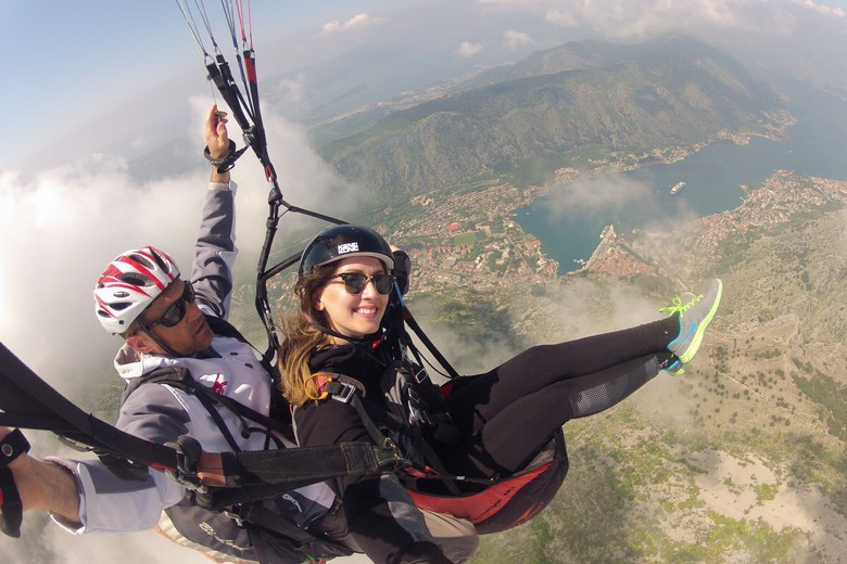 paragliding kotor, tandem fly