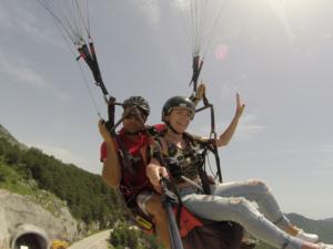 paragliding summer fly budva