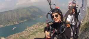 Nice day for nice paragliding fly Kotor